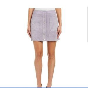 Rebecca Minkoff | Suede Snap Up Mini Skirt Small